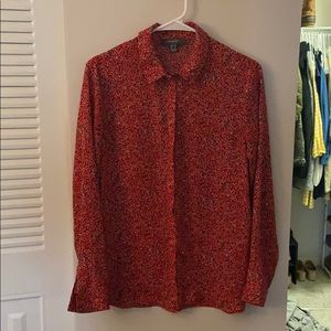 Tops - Red printed blouse